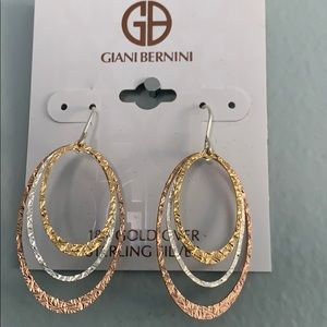 Giani Bernini 18K gold over sterl silver e…
